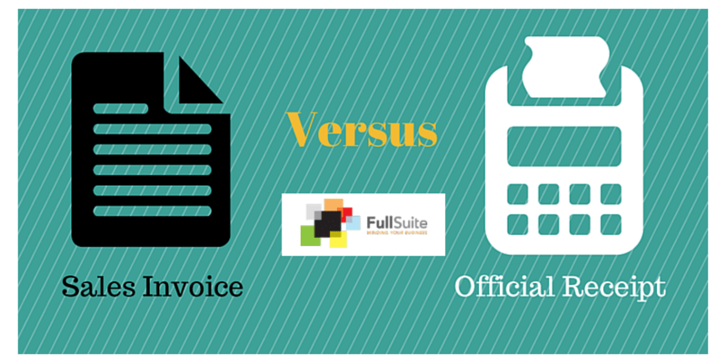 Sales Invoice vs Official Receipt